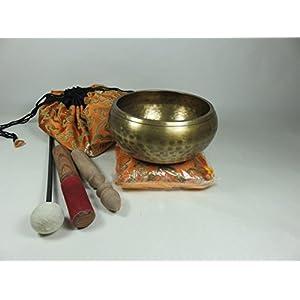 Tibet Klangschale ca. 650-700gr. gehämmert 5tlg. Set