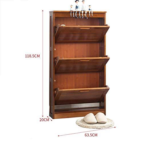 Mingcong Bücherregal-Eingang Schuh Gestell, Retro-Schublade Regal-Hallen Schrank/Locker,L (Asche Bücherregal)