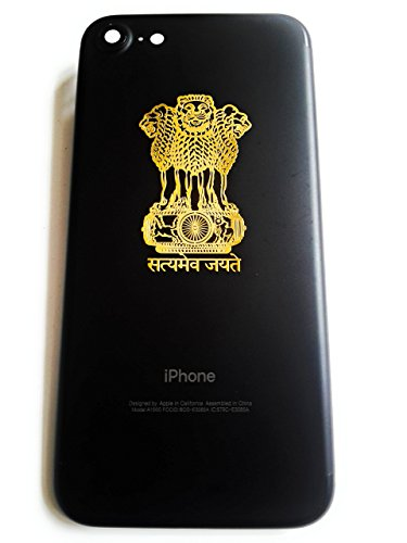 AEON METAL STICKER 24K Gold Plating Satyamev Jayate Stickers for Handbag, Laptops, Phones, Lockers, Notebooks, Hard-disk(Gold) – Pack of 2
