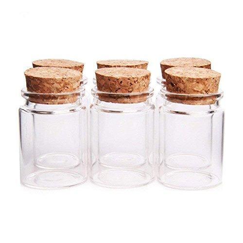 Stück Glas mit Korkverschluss Mini Flaschen Glas Aufbewahrung Einmachgläser (30ml) ()