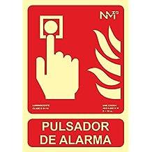 Normaluz RD00311 - Señal Luminiscente Pulsador de Alarma PVC Glasspack 0,4mm 21x30cm con CTE