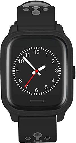 Anio 4 Touch GPS Kinder Smartwatch Smartphone Watch - Schutz für Ihr Kind - SOS Notruf + Telefonfunktion - Keine MONITORFUNKTION - GPS Kinder Uhr (Schwarz)