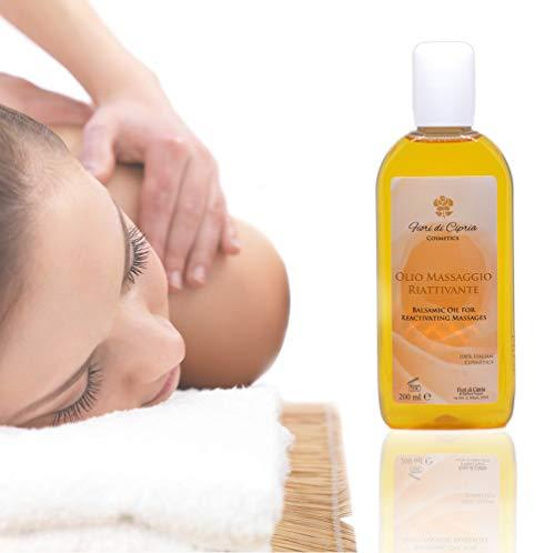 Olio Arnica e Capsico Concentrato - Olio Balsamico Specifico per il Massaggio Riattivante ed Antidolorifico. Aiuta il Riscaldamento dei Tessuti Cutanei - 200 ml