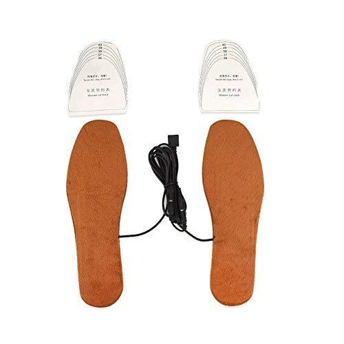 Solette riscaldate ricaricabili, solette riscaldanti usb stivali solette a scarpa termica scaldapiedi scaldapiedi unisex (brown (women))