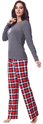 Italian Fashion IF Damen Pyjama Dominica 0223 Graphite