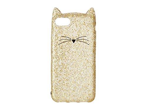 Kate Spade Schutzhülle für iPhone 7, Motiv New York Glitzer Katze, (Gold/Glitzer), Einheitsgröße