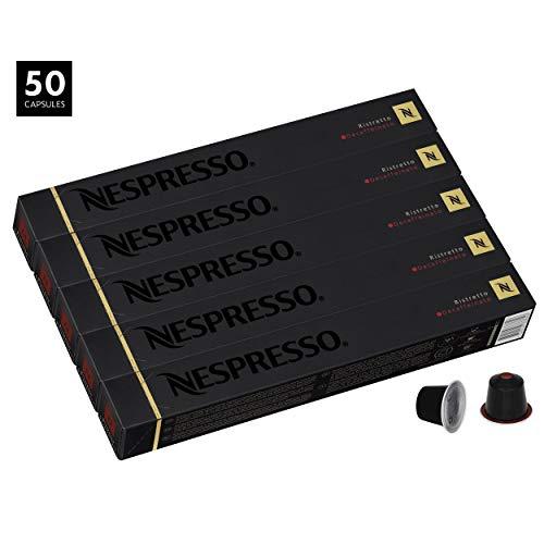 Nespresso Cápsulas-50Ristretto Descafeinado Cápsulas