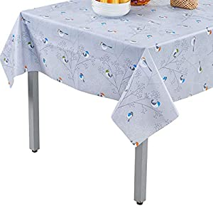 Topmail PVC Tischdecke Tischtuch Wassdicht Anti-Öl Abwaschbar für Familien Hotel Restaurant Cafe ( 140x180cm)