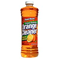 A USA Made Product PowerHouse® Grease Removing Orange Cleaner, Cleans & Deodorizes, 828mL (12)