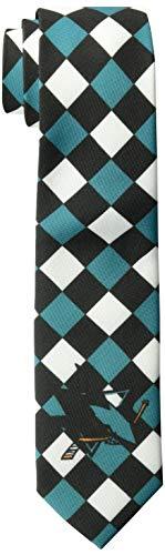 FOCO San Jose Sharks Ugly Krawatte Kariert–Herren
