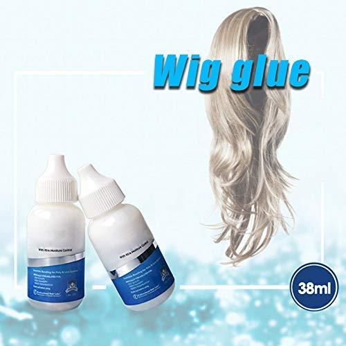 Curitely Haar Ersatz Selbstklebend, Haar Ersatz Selbstklebend Unischtbar Kleben Kleber Extra Moisture Control für Poly Spitze Haarteil Perücke