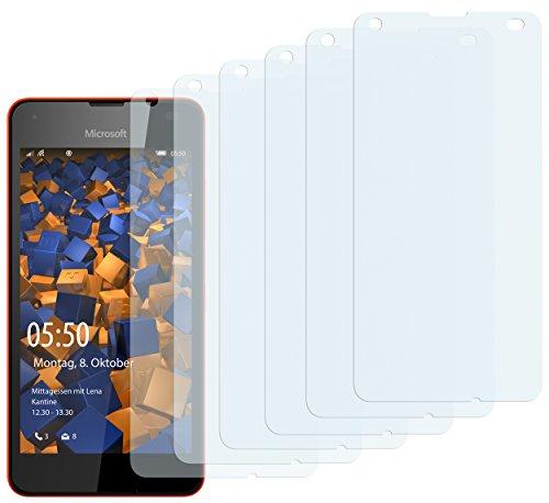 mumbi Schutzfolie kompatibel mit Microsoft Lumia 550 Folie klar, Bildschirmschutzfolie (6x)