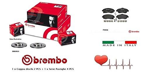 08863810-P59036 Kit Dischi e Pastiglie freno Anteriori Brembo