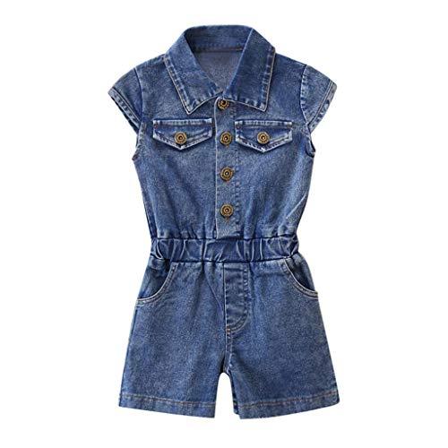 6 Flower Mädchen-top (Mädchen Sommer Streifen Kurzarm Baumwolle T-Shirt Kleid 1-8 Jahre Weise Nette Baby des neuen Kleinkind -Kleidung Denim Top Sun Flower Princess Tutu-Kleid)