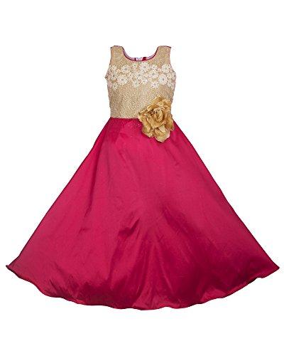 My Lil Princess Baby Girls Birthday Party wear Frock Dress_Blossom Pink_Tafetta Silk_8...