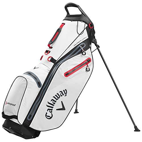 Callaway Golf Hyper Dry C Stand Bag, weiß/schwarz/rot, Einheitsgröße