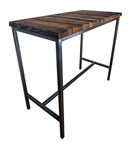 CHYRKA® Bartisch Stehtisch Barhocker Barstuhl BarMöbel SAMBOR Loft Vintage Bar Industrie Design Handmade Holz Metall (Tisch 120)
