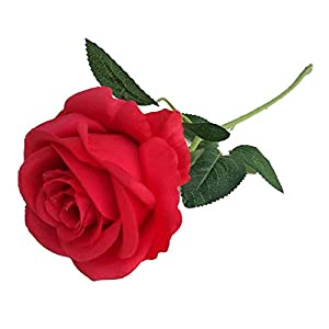 Demarkt Künstliche Rose Blumen Seidenrosen Deko Gefälschte Blumen für Wohnaccessoires Deko Rot