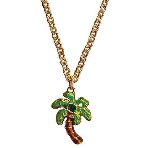 Ritzy Couture Royal Palms Halskette mit Anhänger zweiseitig, 53,3 cm + 7,6 cm Verlängerung