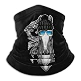 BigHappyShop Neck Warmer Gaiter Cool Animal Steed Soft Microfiber Headwear Face Scarf Mask For Winter Cold Weather & Keep Warm For Mens Womens