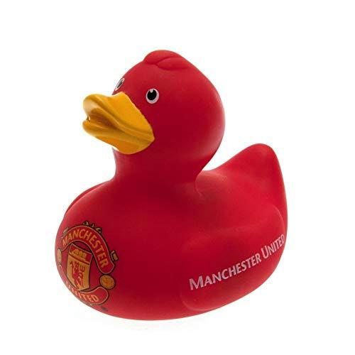 Manchester United - Paperella ufficiale in Gomma per il Bagno (Taglia unica) (Rosso)
