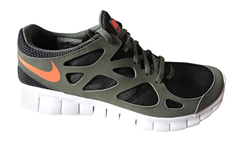 Free Run 2 Nsw Mens addestratori correnti delle scarpe da tennis 540244 (uk 6 US 7 Eu 40, Ferro verd