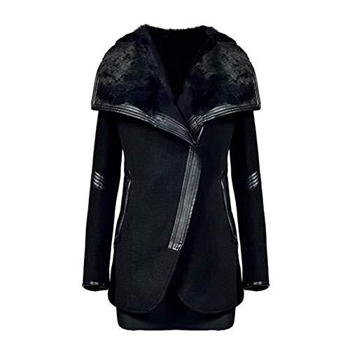 TWBB Damen Mantel Winter Plus Samt Steppmantel Winterparka Lange Jacke Slim Fit Lange Ärmel Jacken Mode