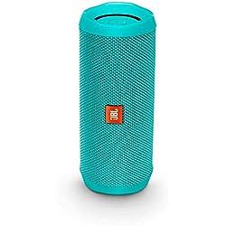 JBL Flip 4 - Enceinte Bluetooth portable robuste - Étanche IPX7 pour piscine & plage - Autonomie 12 hrs - Qualité audio JBL - Turquoise
