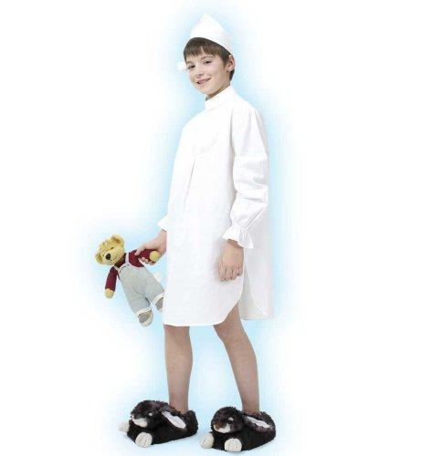 Ballett Nachthemd Kostüm - Nachthemd mit Mütze Kinderkostüm 128/140