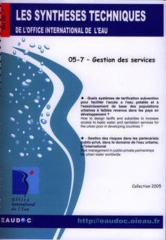 Gestion des Services (les Syntheses Techniques de l'Office International de l'Eau, en 05-7)