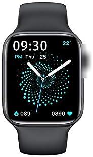 ساعة ذكية جديدة 2021 HW22 مقاس 1.75 انش، مينا مخصص، مزود بخاصية مكالمات بلوتوث 44 ملم وقياس معدل ضربات القلب و