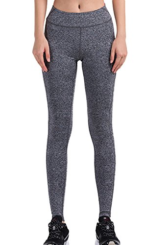 Insun - Leggings sportivi -  donna Grey 44