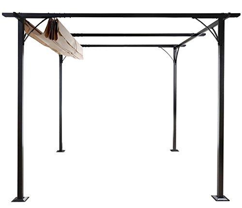 Mendler Pergola HWC-C42, Garten Pavillon, stabiles 6cm-Gestell + ...