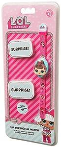 L.O.L. Surprise ! Reloj Digital Rosa para Niñas con 3 Cubiertas De Caracteres Intercambiables | Accesorios De Muñecas Infantiles Incluye 3 Opciones De Juguete