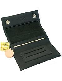 COMARI Tabaktasche aus Leder   Double-Paper- & Filterfach   Magnetverschluss   gratis Greengo Tabakbefeuchter