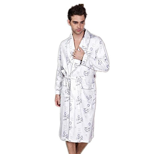 LIUDOU Spessore lungo di cotone imbottito cotone camicia da notte