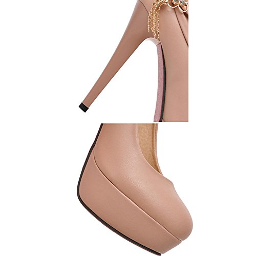 Scothen Heels Ladies cheville Strap Plateau Pompes fermé talon en daim arc chaussures de soirée élégante Femmes Mode Stiletto Sexy Heels Platform Pumps mariée Pompes de plate Chaussures Rose