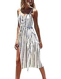 Vestido para Las mujeres de moda, vestido imprimieron sin mangas, vestido del halter de