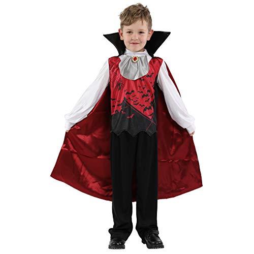LOLANTA Gothic Vampir Kostüm für Jungen Viktorianisches Vampir-Blutsauger-Kostüm für Kinder (8-9 - Viktorianische Vampirin Kostüm Kind