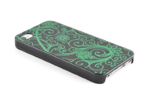 JAMMYLIZARD   Totenkopf TPU Back Cover Hülle für iPhone 4 und 4s, KNALLROSA Fluo Bonbon - Hexenkräuter Bonbon