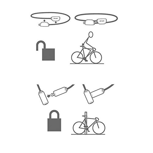 Hiplok Unisex Pop Lock Fahrradschloss Schwarz
