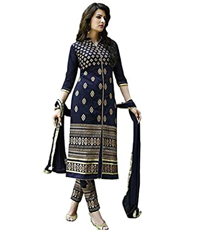 Fab Glory Women's Blue Salwar Suit Dupatta Dress