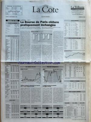COTE (LA) du 13/09/1993 - LA SEANCE -0,0...