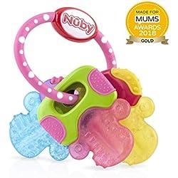 Nûby L'anneau de dentition gel froid Clé soins dentaires bébé, multicolore,