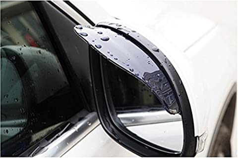 2 Pcs/Lot PVC Car Rear View Mirror Rain Eyebrow Weatherstrip Auto Mirror Rain Shield Visor Rainproof