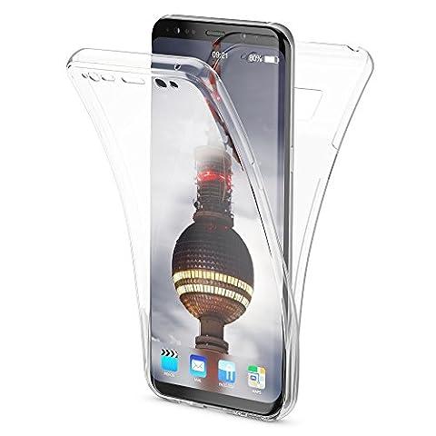 Samsung Galaxy S8 Coque Protection Tout Round 360 Degrés de NICA, Housse Silicone Portable Full-Cover, Transparente Case Écran Integrale, Ultra-Fine Slim Bumper Etui pour S8, Couleur:Transparent