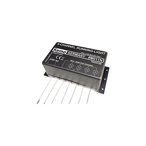 Unbekannt Kemo M011N Lauflicht Bausatz Ausführung (Bausatz/Baustein): Baustein 230 V/AC 50 Mm-modul