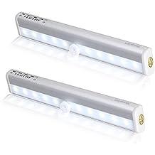 2PCS morpilot Sensor de movimiento PIR super brillante LED lámpara inalámbrico de movimiento uso de pared /la escalera/cajón / armario / tronco