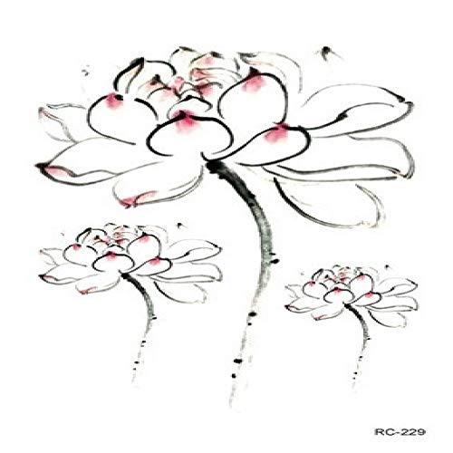 Aggio del fiore di modo di personalità di 3pcs-waterproof autoadesivi del tatuaggio del fiore di modo di estate piccolo tatuaggio fresco 3pcs-26 105 * 60mm