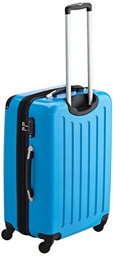 HAUPTSTADTKOFFER - Alex - 2er Koffer-Set Hartschale glänzend, TSA, 65 cm, 74 Liter, Aubergine-Silber Cyanblau